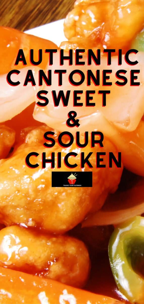 Authentic Cantonese Sweet and Sour Chicken. Come and see how to make it just like in the restaurants! Chinese food at it's best!