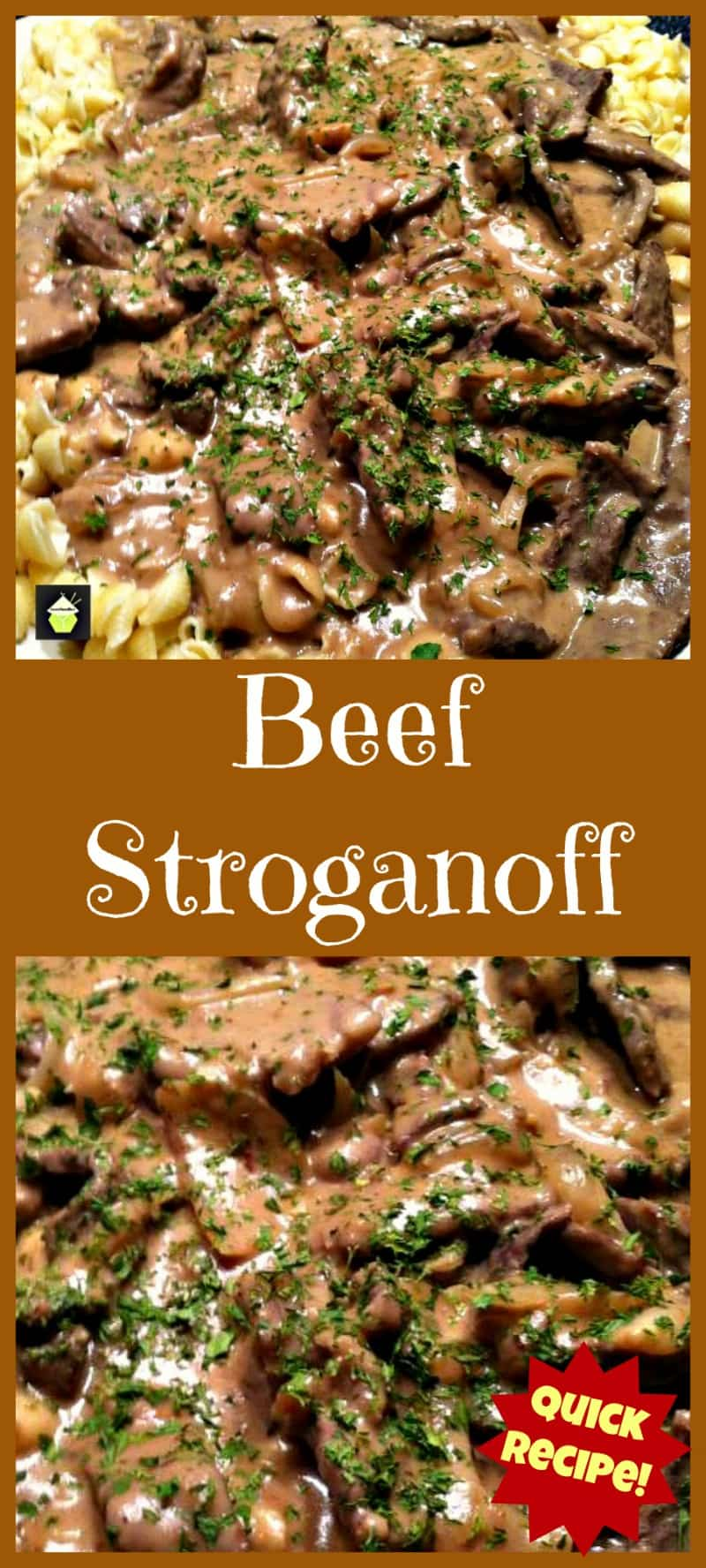 Beef Stroganoff. Quick and Easy dinner with a great sauce! | Lovefoodies.com