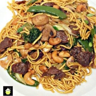 Beef and Vegetable Lo Mein. A quick and easy Chinese favorite with great flavors! | Lovefoodies.com