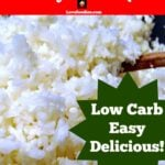 How to Make Cauliflower Rice, quick and easy recipe for the microwave, great for a low carb meal