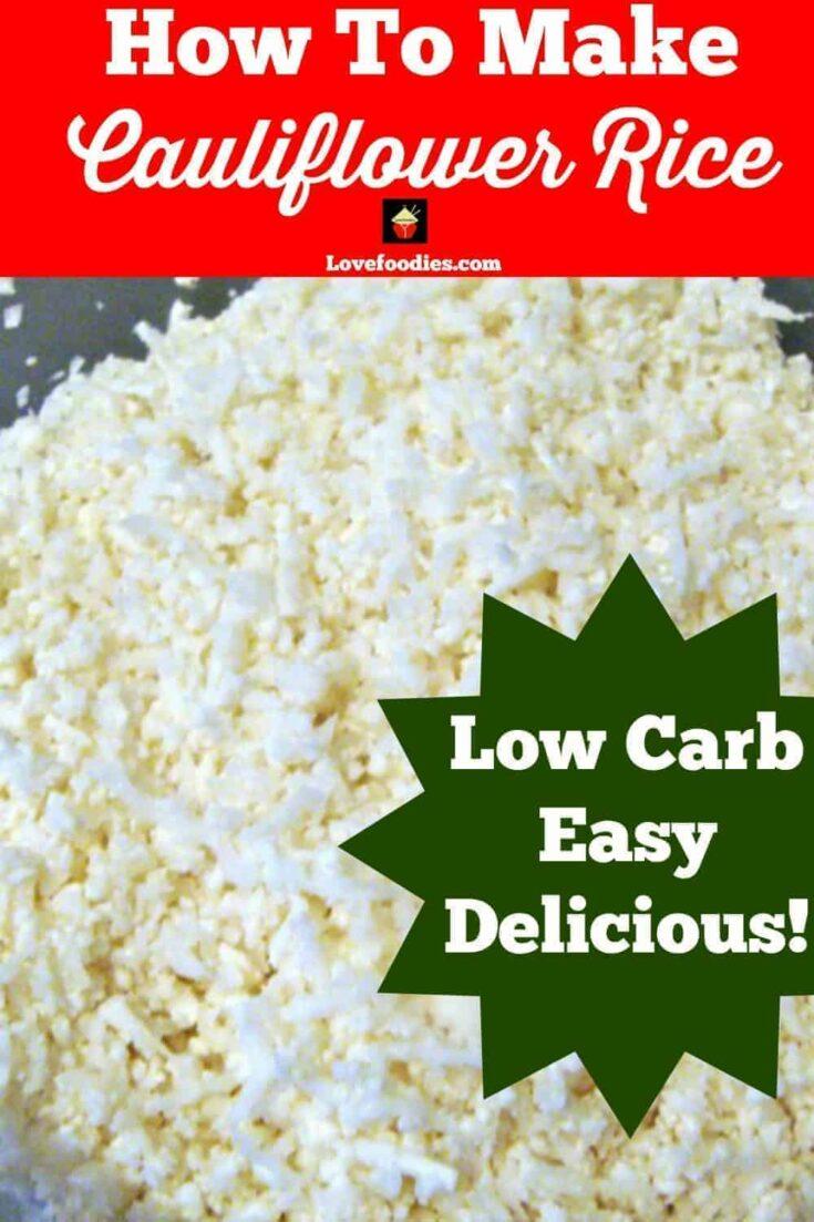 Cauliflower Rice RecipePT3