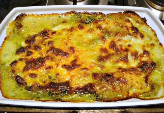 Chicken, Garlic & Spinach Lasagna