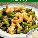 Sesame Chicken, Shrimp and Broccoli Stir Fry