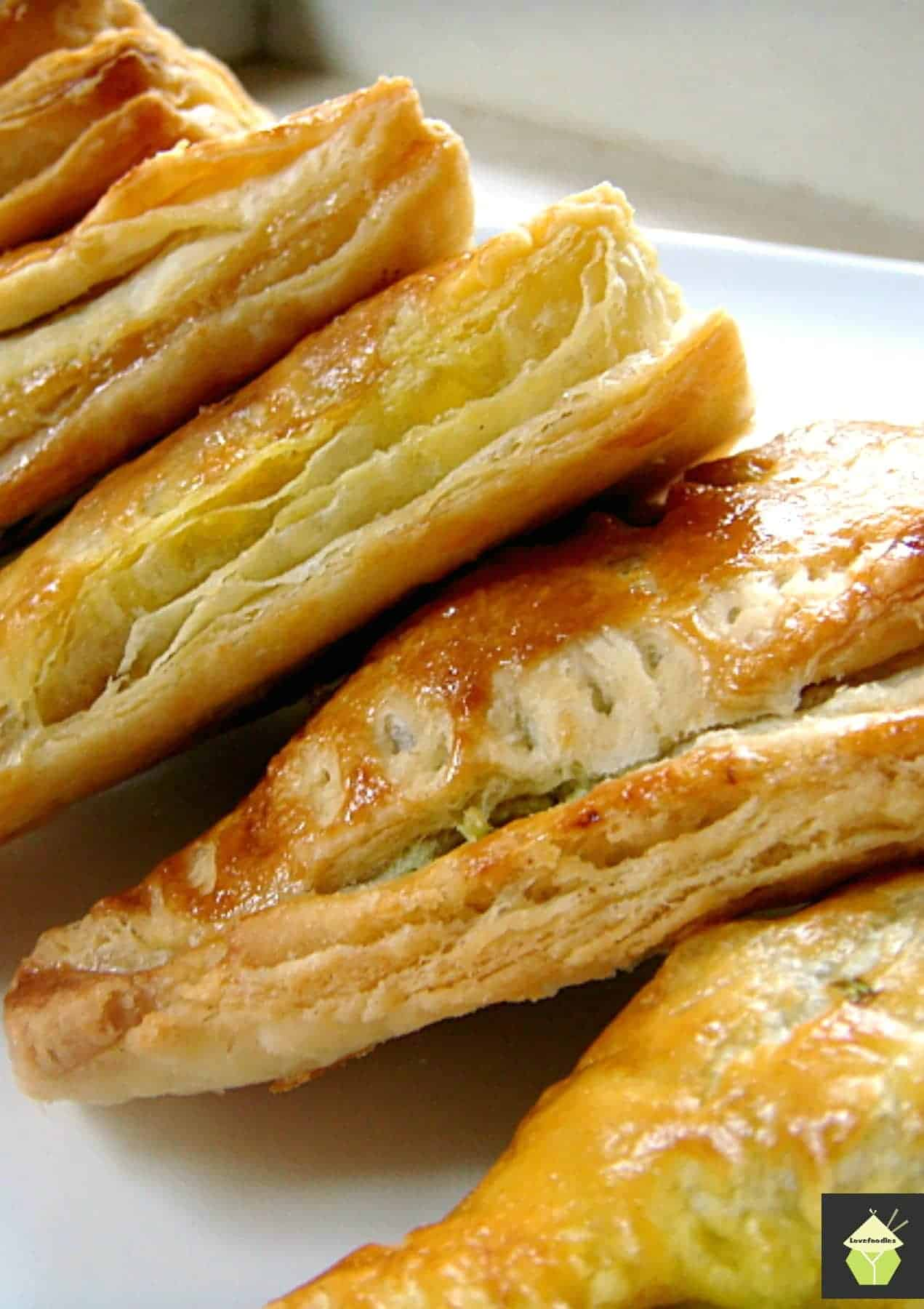 Nanny Chan's Mild Curry Puffs with a delicous mild spiced filling of ground meat wrapped in a flaky pastry. Great as a snack, appetizer or party food!