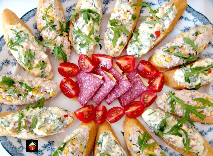 Easy Open Sandwiches with a variety of 2 delicious filling