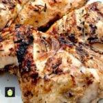 Flattened Moist BBQ Garlic and Lemon Chicken