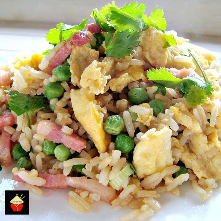 Speedy Ham and Egg Fried Rice. Great authentic Chinese flavours and easy to make too!