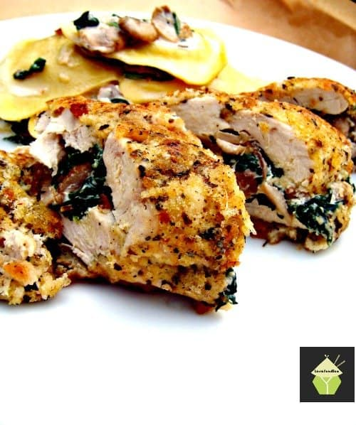 Herb crusted stuffed chicken15