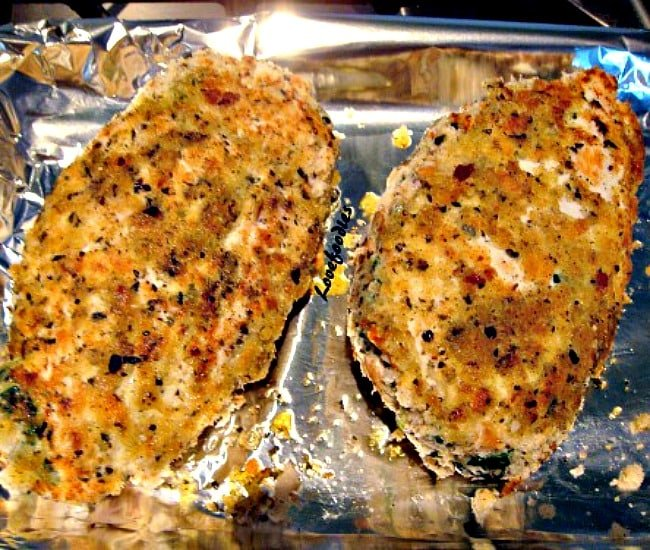Herb Crusted Stuffed Chicken