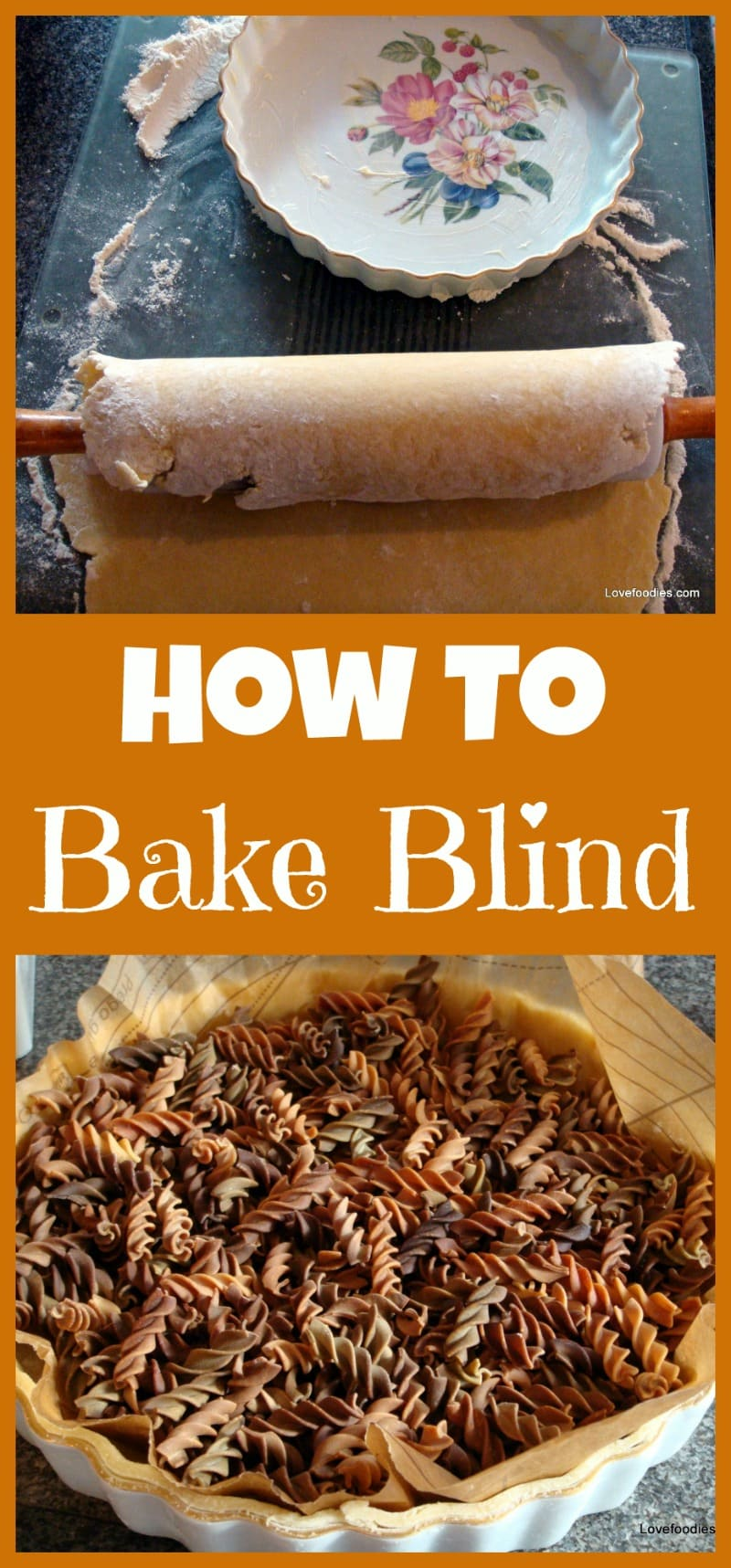 How To 'Bake Blind' Pastry. An easy step by step guide for preparing a pastry crust for filling.