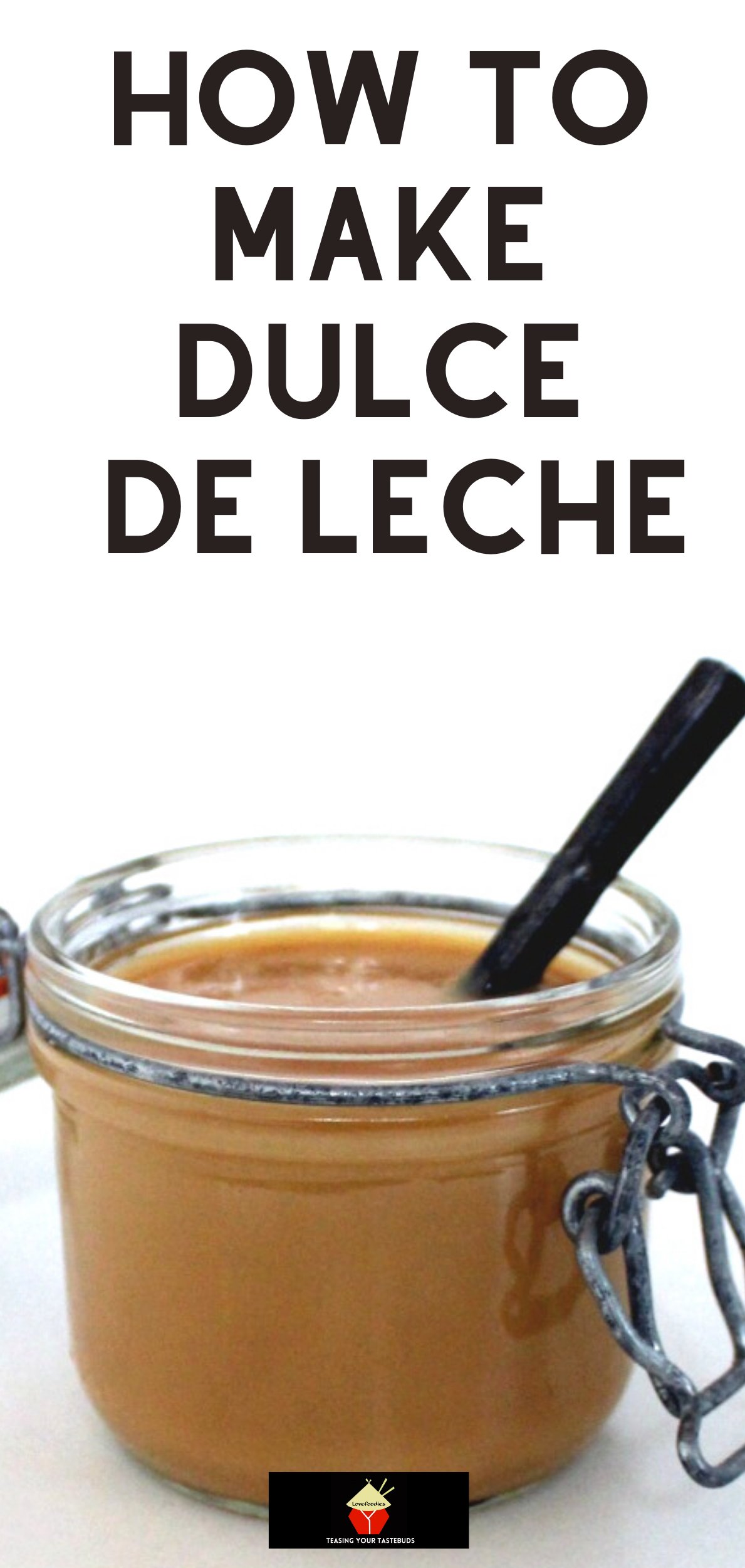 How To Make Dulce De Leche. An easy recipe to making your own Dulce De Leche. Super easy, using a can of sweetened condensed milk & no other ingredients to give you sweet, sticky caramel.