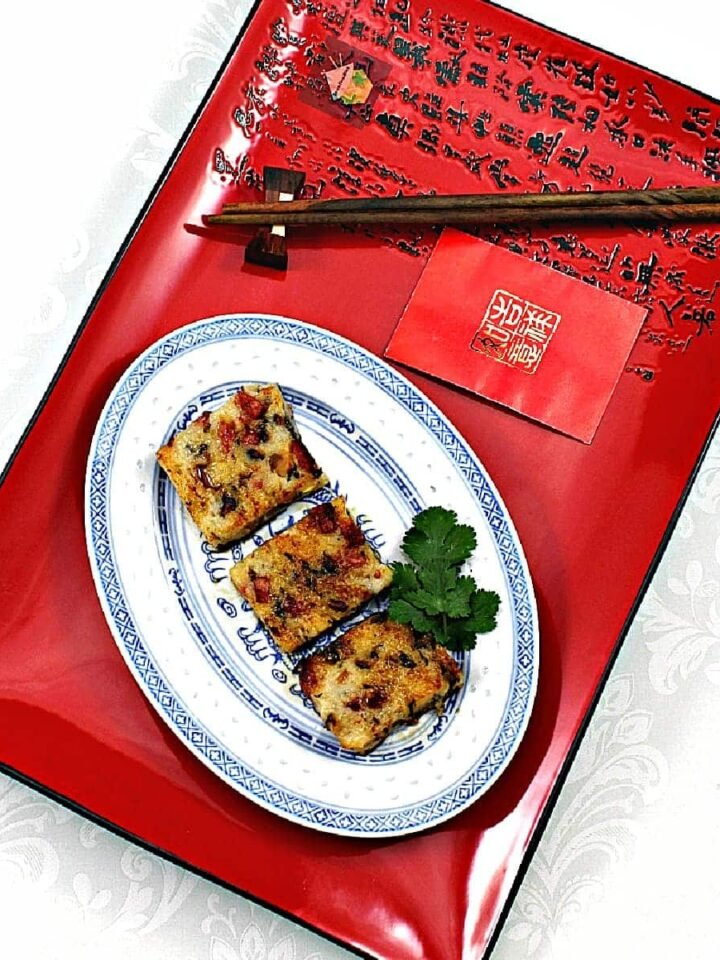 Lo Baak Gou – Chinese Turnip Cake! A delicious Traditional Chinese dish, often served as part of Dim Sum or at Chinese New Year.