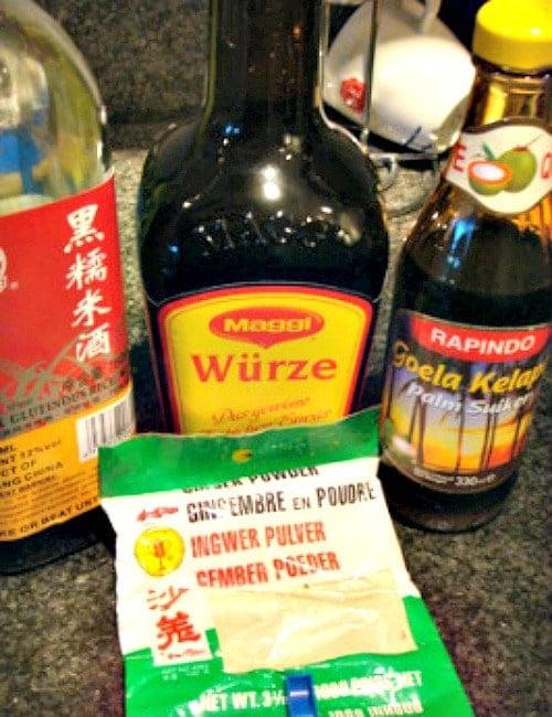Palm Sugar, Maggi, Ginger Powder ingredients