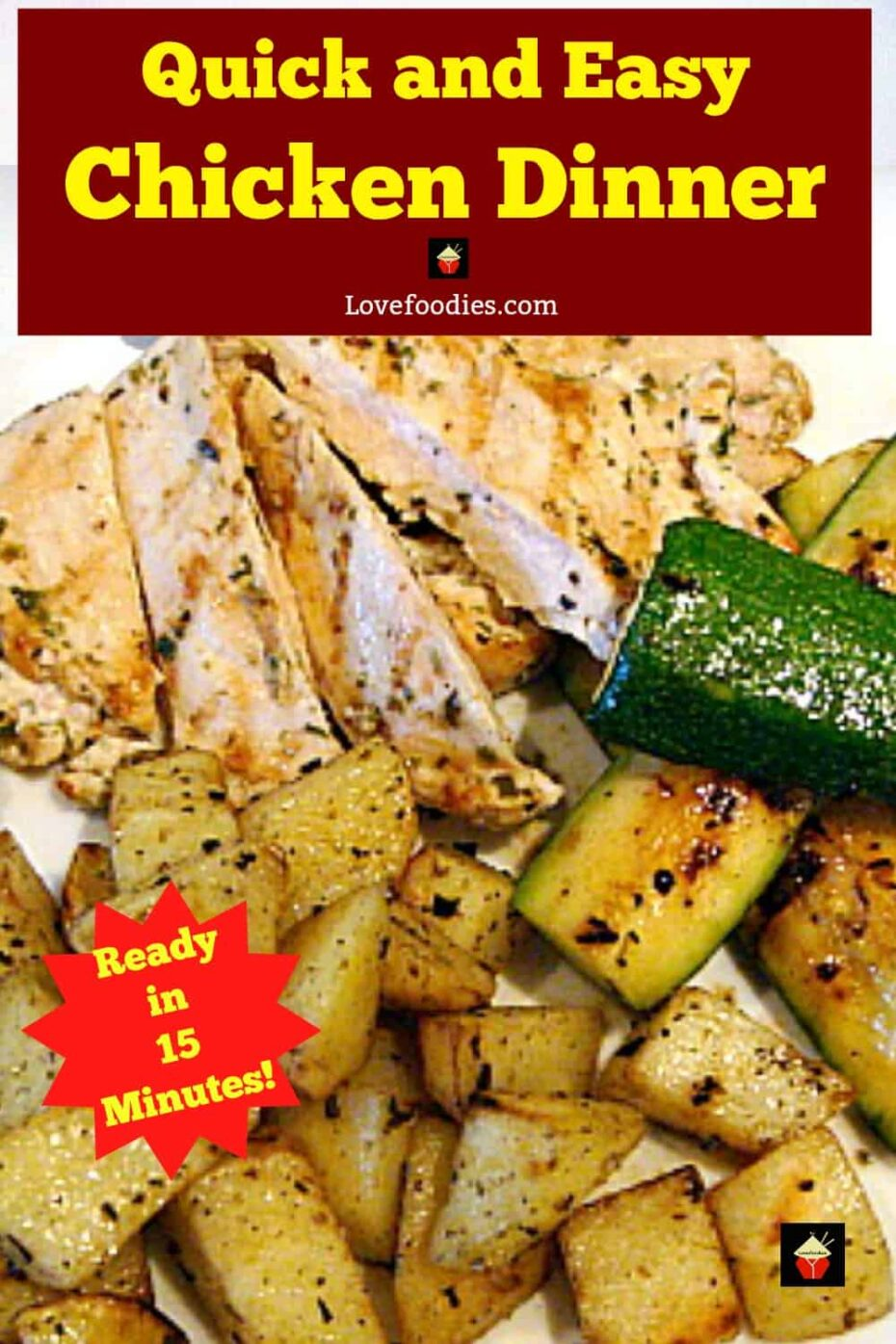 Quick and Easy Moist Chicken Breast, pan-fried marinated chicken full of flavor and so tender too!