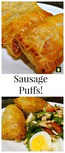 Sausage Puffs - Quick, Easy and Delicious!   Lovefoodies.com
