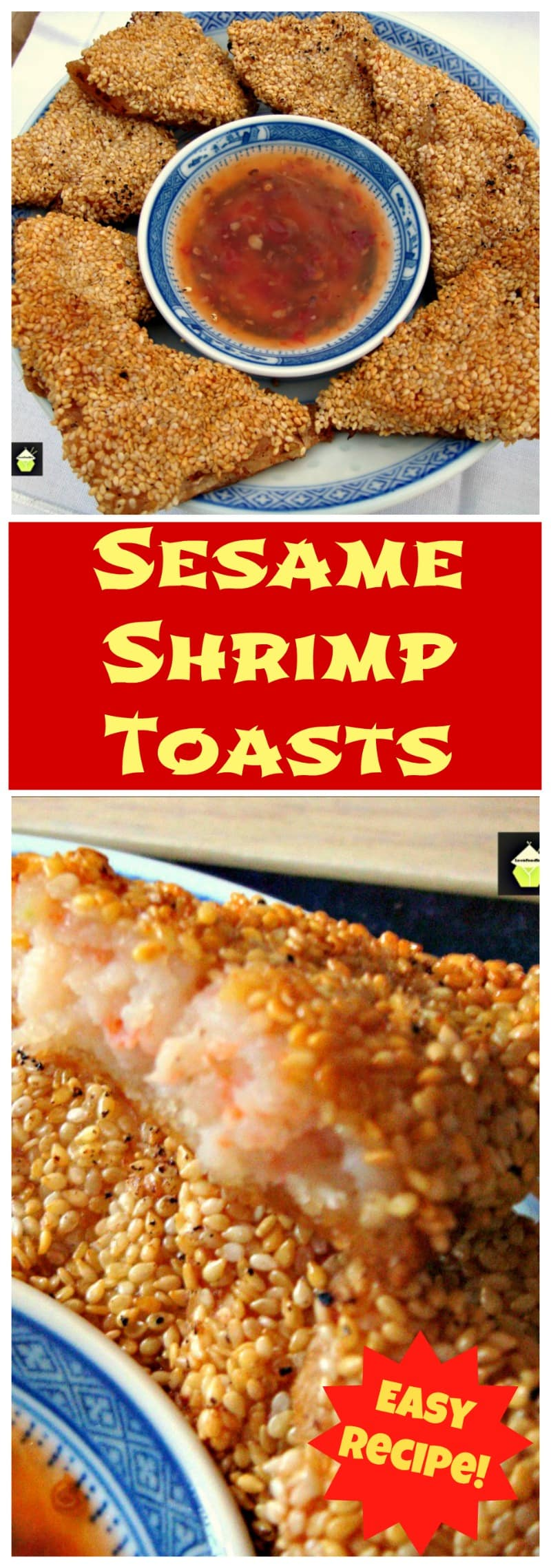 Sesame Shrimp / Prawn Toasts. These are a very popular little Asian appetizer, great for parties, or to have as a side with a nice soup.Easy recipe and budget friendly too!