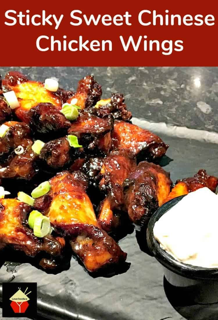 Sticky Sweet Chinese Chicken Wings. Be sure to make more than you need! These always go fast. A great side or main for a family dinner or party, buffet etc. You can also use the marinade and make great ribs. Perfect!