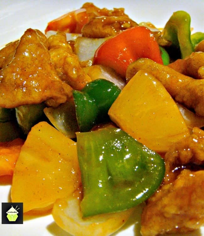 Authentic Cantonese Sweet and Sour Chicken, come and see how to make it just like in the restaurants! Chinese food at it's best! | Lovefoodies.com