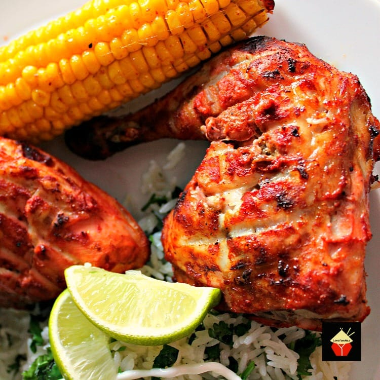 Tandoori Chicken is a wonderful baked or grilled recipe and so tasty! | Lovefoodies.com