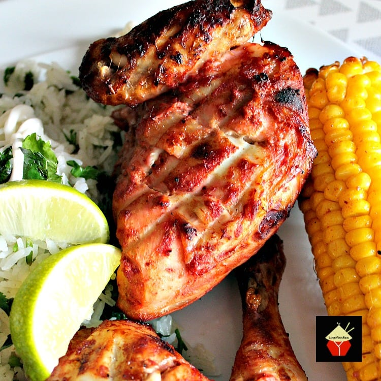 Spicy Tandoori Chicken Drumsticks is a wonderful baked or grilled recipe using a homemade spice mix. Full of flavor and great for a dinner or to serve at a party!
