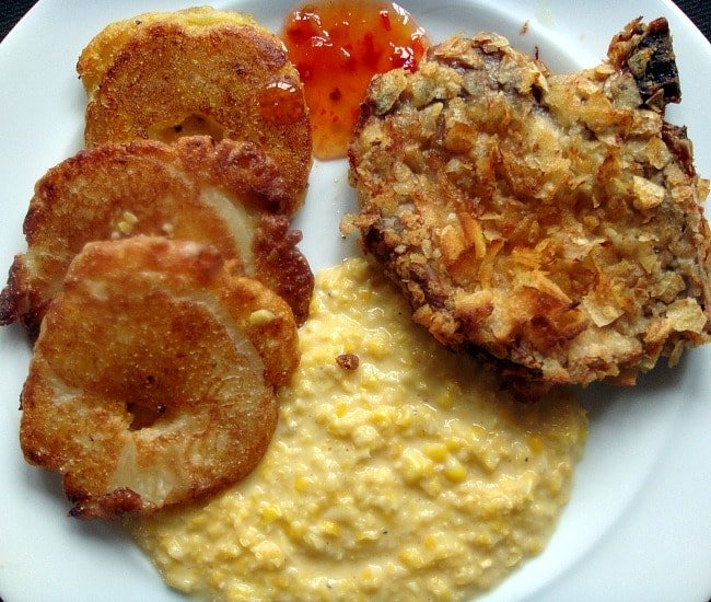 Tasty Pork Chops with a lovely topping. These chops are never ever dry so give it a go! They're delicious! | Lovefoodies.com