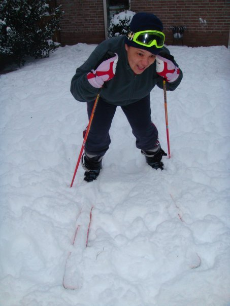 Skiing in Holland (Back Garden)