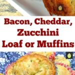 Bacon, Cheddar, Zucchini Muffins, great for parties, pot lucks and also freezer friendly too!
