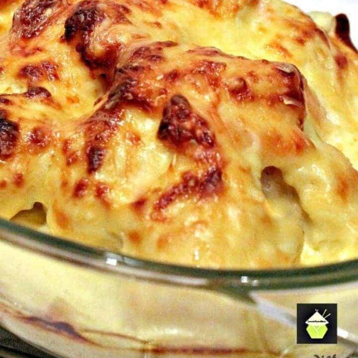 Bacon and Cauliflower Cheesy Bake