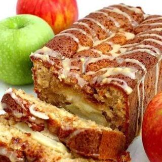 Moist Caramel and Apple Loaf
