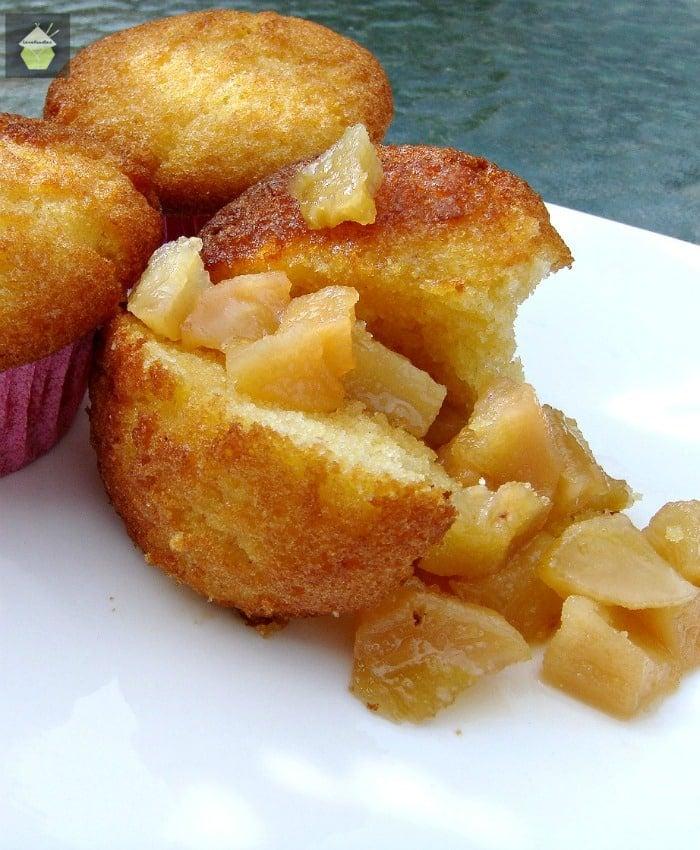 Caramel Pear Cornbread Muffins