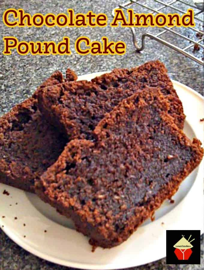 Chocolate Almond Pound Cake Hero
