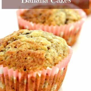 Chocolate Chip and Banana Cakes