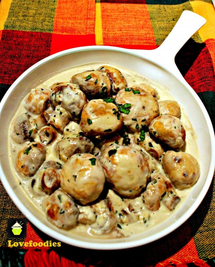 Creamy Garlic Mushrooms