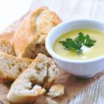 Creamy Leek and Carrot Soup. This is a lovely creamy, thick soup using fresh ingredients and really delicious! Serve with some warm rolls from the oven as a starter or main meal. | Lovefoodies.com