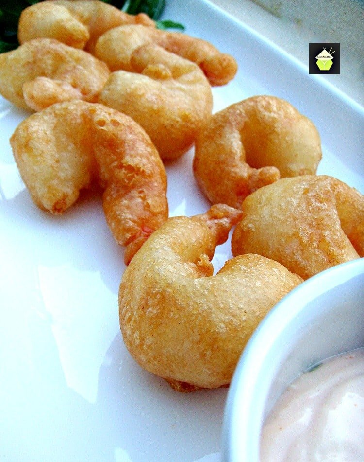 Crispy Beer Battered Shrimp