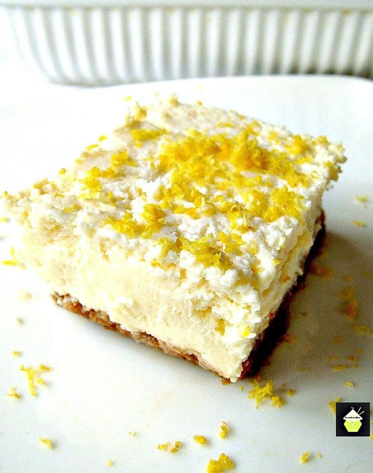 Crockpot Lemon Cheesecake