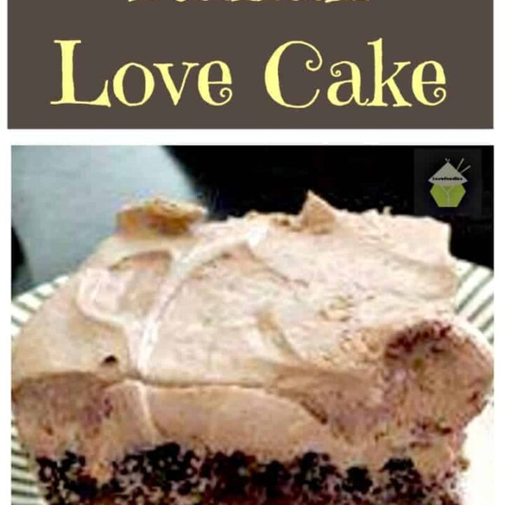 Easy Italian Love Cake. This is incredibly easy to make and tastes so good!   Lovefoodies.com