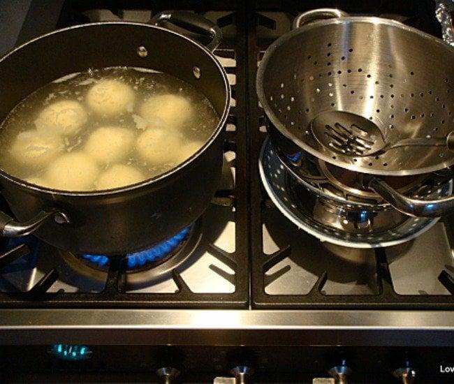 Flavour Dancing Dumplings, Swedish Kroppkakor Dumplings, boiling dumplings