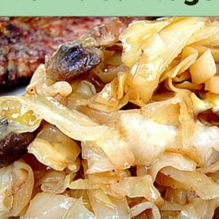 Garlic Cabbage -Cabbage not as you know it! A great tasting side dish to go with your dinner. Come and see what the secret ingredient is to get cabbage tasting out of this world! Thanksgiving and Christmas ideas | Lovefoodies.com
