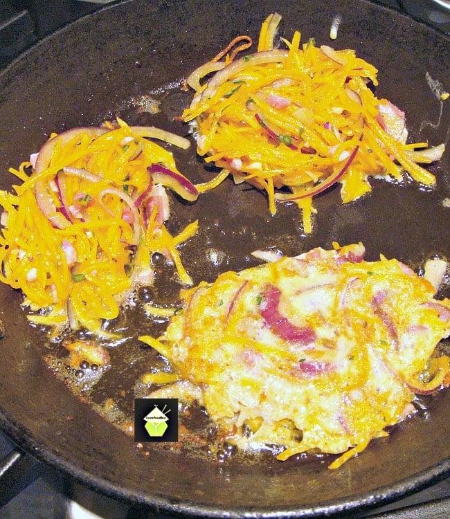 Garlic and Bacon Butternut Patties