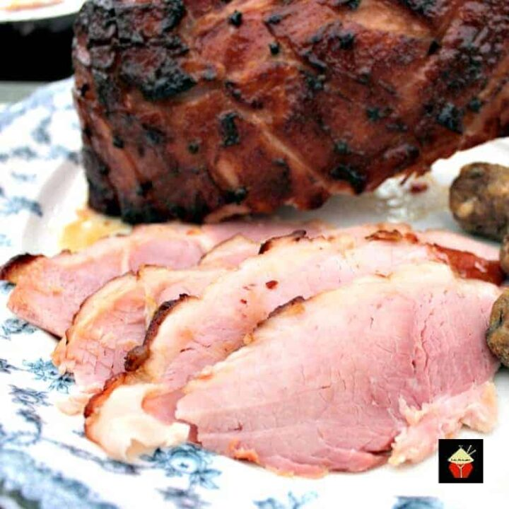 Honey Glazed Ham. Super easy recipe and guaranteed to be packed full of flavour and very moist. Perfect served warm or cold, or both!