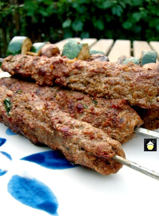 Kebabs With Attitude. These are a spicy, moist meat kebab, full of flavor and perfect for grilling! Herbs and spices take this BBQ recipe to another level.