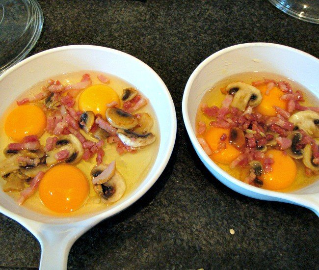Easy Bake Brunch, adding mushrooms and bacon