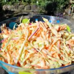 Low Fat but Creamy Coleslaw - come and see the trick to making this delicious side!