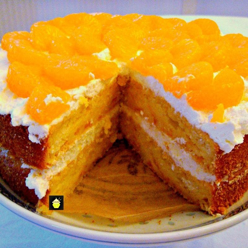 Mandarin or Pineapple Cream Cake