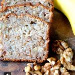Moist Banana and Walnut Pound Loaf Cake