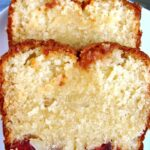 Moist Macadamia and Cherry Loaf Bottom Cake