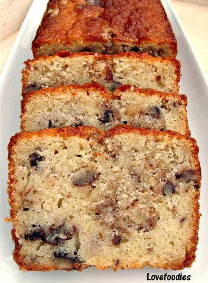 Moist Pecan Almond Loaf Cake Lovefoodies