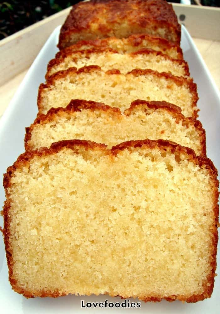 Homemade Vanilla Pound Loaf Cake Classic Made From Scratch Easy Recipe