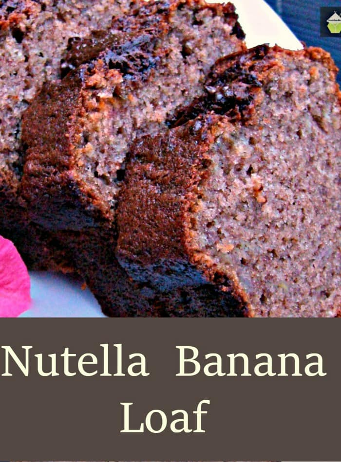 Nutella Banana Loaf. Delicious, moist ... and ..well... Nutella!